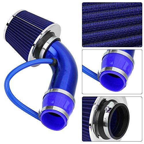 76mm 3inch flessibile tubo flessibile tubo flessibile tubo flessibile tubo di aspirazione tubo di induzione kit Tubo di ingresso aria fredda auto universale alluminio durevole gomma materiale tubo