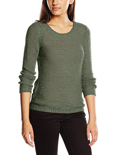 ONLY Damen Pullover onlGEENA XO L/S KNT NOOS, Grün (Laurel Wreath), 42 (Herstellergröße: XL)