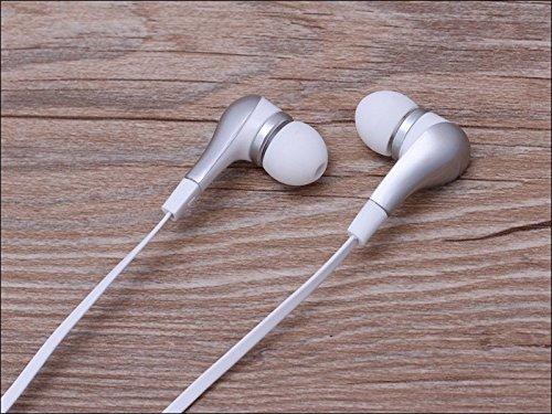 Suppression du bruit écouteurs intra-auriculaires sport Argent Casque écouteurs Mains libres écouteurs intra-auriculaires 3,5mm W/appel mains libres Mic. Compatible avec