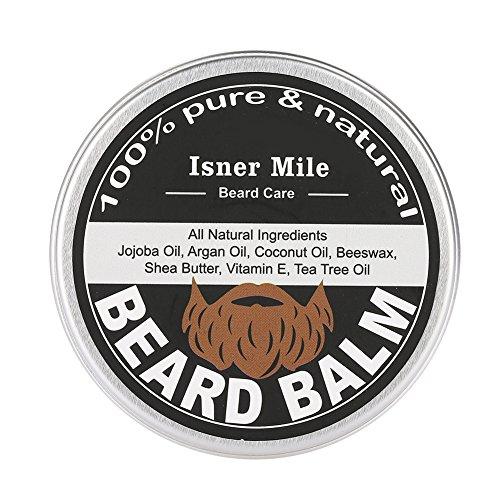 Balsamo da barba da uomo, burro di baffi, cera da barba, trattamento idratante e idratante per la crema di crescita e lozione ammorbidente, crema di cura e burro per uomo.