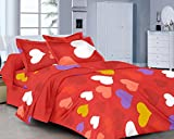 Classic FP Red Cotton Double Bedsheet (M...