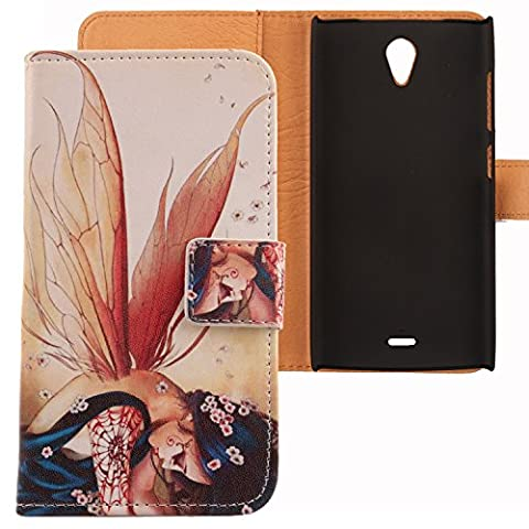 Lankashi PU Leather Etui Flip Case Housse Cuir Cover Coque Protection Pour Orange Nura Wing Girl Design