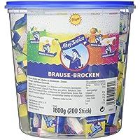 Frigeo Ahoj-Brause Brause-Brocken für den extra Brause-Kick in 4 Geschmacksrichtungen: Waldmeister, Zitrone, Orange und Himbeere, 200 Stück im Eimer (1.6 kg)