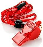 FOX 40® CLASSIC oder MINI CMG - Schiedsrichterpfeife mit Sicherheits-Umhängeband | Erbsenlos | Laut (115/109 dB) | Langlebig | Hochwertig | Hohe Reichweite | Sicherheitspfeife | Trainerpfeife | SOLAS-Norm, Farbe:red