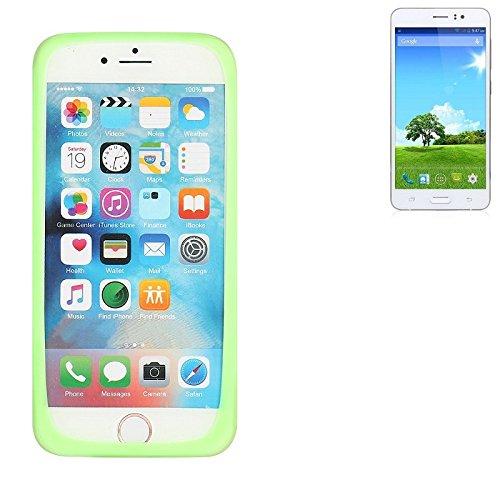 K-S-Trade Für Bestore Star Note 5 N5D N9200 Silikonbumper/Bumper aus TPU, Grün Schutzrahmen Schutzring Smartphone Case Hülle Schutzhülle für Bestore Star Note 5 N5D N9200