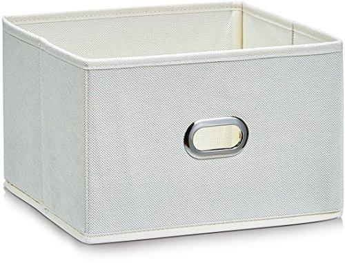 Zeller Boîte de rangement, gris, tissu