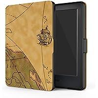 MoKo Funda para Kindle 8th Generación - Funda de SmartShell Más Delgada y Ligera con Auto Sueño/Estela - Mapa H (No es Compatible con el kinlde Paperwhite)