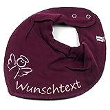 HALSTUCH ENGEL mit Namen oder Text personalisiert beere für Baby oder Kind