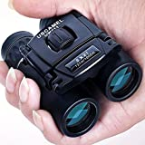 USCAMEL® Folding Pocket Binoculars Compact Travel Mini Telescope HD Bak4 Optics Lenes Easy Focus Colour Black