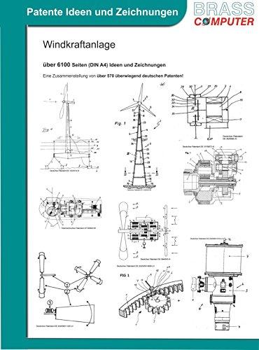 Windkraftanlage, über 6100 Seiten (DIN A4) Ideen und Zeichnungen
