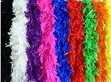Federboa einfarbig, Federdichten wählbar, Länge ca. 1,80m, Federstola Federschal Kostüm Karneval 20er Jahre Charleston Burlesque kuschelig (rot - höherwertig - 60 g)