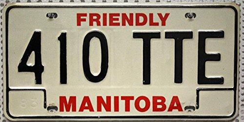 MANITOBA Nummernschild ~ KANADA Metallschild aus Nordamerika ~ KFZ Kennzeichen ~ CANADA License Plate