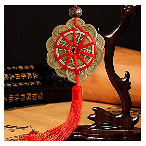 Caxmtu - Abalorio de la suerte, monedas antiguas, proteccion de la prosperidad, nudo chino simbolico.