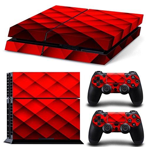 46 North Design Ps4 Playstation 4 Pegatinas De La Consola Red Diamond + 2 Pegatinas Del Controlador 51PXyzQukUL
