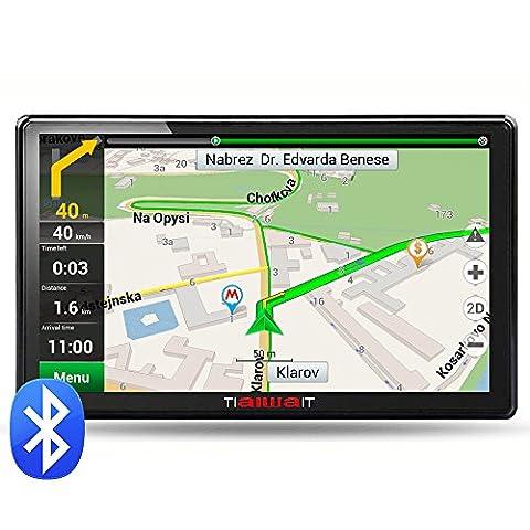 junsun 7 pouces GPS portable voiture Système de navigation Unités 8GB / 256MB écran capacitif véhicule Truck Sat Nav GPS gratuit Map Update (Bluetooth)
