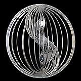 Edelstahl-Windspiel Yin Yang Ø-12cm klein mit Kugeln Ø-16mm Für den Garten und als Fensterschmuck