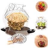 KANTHI Chef Basket Cooker Strainer 12 In 1 Kitchen Tool Cooks Net - Flexible Kitchen Helper Kitchen Tool