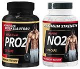 Maxcore Pro2 und Alpha No2 by VargPower | Testosteron Testo Pump Booster | Pre Workout | 240 Kapseln | Extreme | Nahrungsergänzungsmittel Muskelaufbau Phase Bodybuildern Männern
