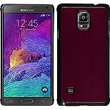 Funda Rígida para Samsung Galaxy Note 4 - metálico rojo - Cover PhoneNatic Cubierta + protector de pantalla