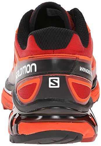 Salomon Wings Pro, Chaussures de Trail Homme multicolore (Flea/Tomato Red/Black)