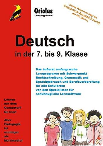 Deutsch 7. bis 9. Klasse - Schullizenz für PC 5 Jahre, updatefähig: Lernprogramm Deutsch - für alle Schularten - für Windows 7-10ff und Windows-Netzwerk