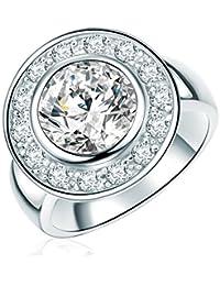Rafaela Donata - Bague - Argent sterling 925 oxyde de zirconium - Bijoux pour femmes - En plusieurs tailles, bague oxyde de zirconium, bijoux en argent - 60800258