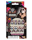 Horror-Shop Sugar Skull Fingernägel zum aufkleben am Day of The Dead & Halloween