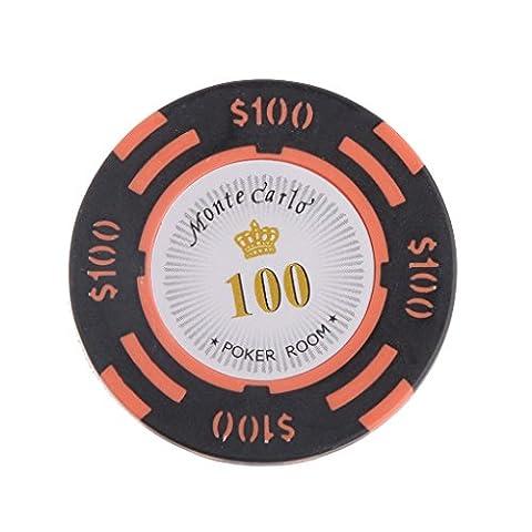 10pcs Jetons de Poker Monte Carlo Etiquette Casino Chips en