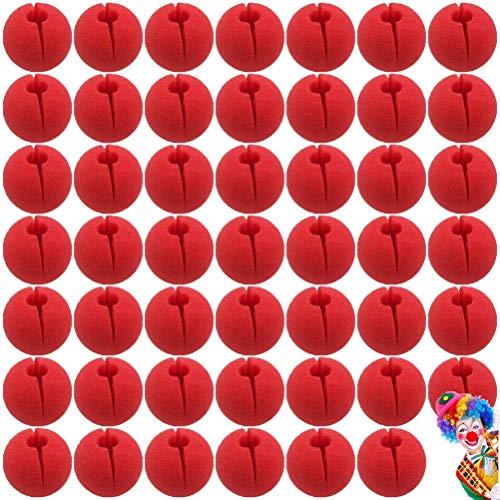 UPPERO 48 x 5 cm rote Clownnnase Schaumstoff Zirkus Comic Nase Maske Party Supplies Halloween Zubehör Kostüm Magic Dress Party Supplies