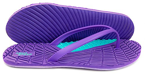 AQUA-SPEED® BAHAMA Infradito (36-41 Donne Spiaggia) Farbe 09 / Violet-Türkis