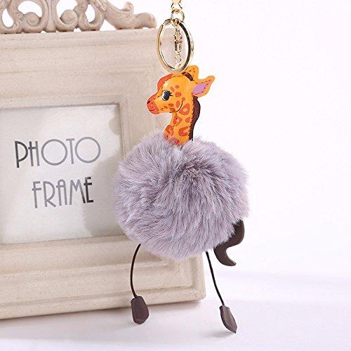 OSYARD Schlüsselanhänger,Keychain,Mini-Spielzeug aus Plüsch, 8 cm, Schlüsselringe Giraffen Keyring für Kinder und Erwachsene,zum Geburtstag,Taschen,Rucksäcke,Handtaschen,Partys,Dekorationen
