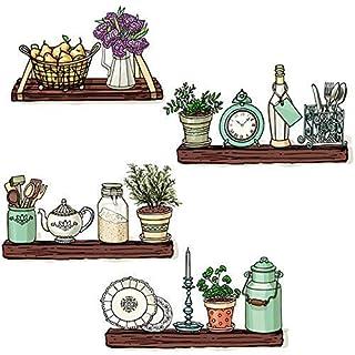 MONFS Home Selbstklebende Hintergrundwand , Wandhalterung Airy Living Arts College Dormitory Dormitory Ecellence Küche Blumenhintergrund Aufkleber Aufkleber , Dekorative Wasserdichte Aufkleber