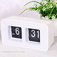 Finlon auto Flip Clock file Down page Clocks scrivania orologio da parete intelligente sveglia luce dimmer AM/PM formato Display per casa ufficio decorazione, ABS, Auto Flip Clock, 17.5 * 9.3 * 7cm / 6.89 * 3.66 * 2.76in