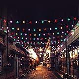ELINKUME 25er G40 Glühbirne Lichterkette RGB - Innen und Außen Wasserdicht Deko String Lichter für Garten, Balkon, Fenster,Café, Weihnachten, Party