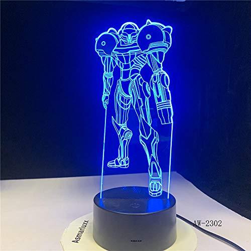 dwqerwre 3D Nachtlamp pacific Rim Actionfigur Gipy Danger Boy Film Geschenk Dek Tischled Nachtlicht Bunte Lampe