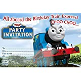 Invitaciones para fiesta de cumpleaños de Thomas y sus amigos, 10unidades