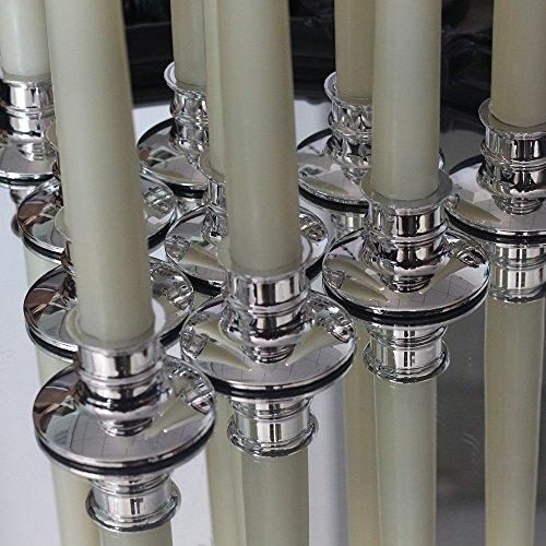 10Pack Caliente las luces blancas de vela sin llama, de 11 pulgadas, de marfil con 10 candelabros