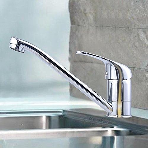 ... COSTWAY Wasserarmatur Küchenarmatur Armatur Waschtischarmatur  Wasserhahn Einhebelmischer Spültischarmatur Einhandmischer Verchromt
