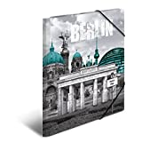 Herma 7262 Sammelmappe DIN A4 Kunststoff, Motiv Deutschland Berlin, Serie Städte, Eckspanner, 1 Zeichenmappe