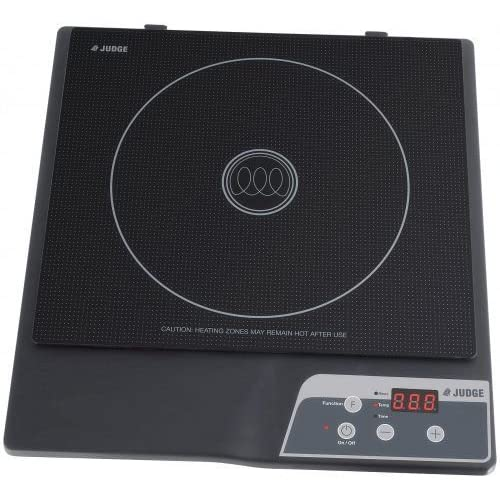 Judge JEA11 Portable Induction Hob with Timer, Single Cooktop 31cm x 27cm x 5cm, 1800W – 2 Year Guarantee