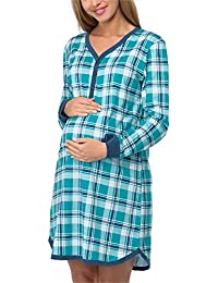 Cornette Premamá Camisón Lactancia Vestido de Casa Mujer 654/03