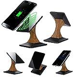 Qi Kabelloses Ladegerät,MuSheng Qi Kabelloses Ladegerät Ständer Lade Pad Dock für Samsung Galaxy S8 / S8 Plus/Galaxy S7 / S7 Edge (Schwarz)