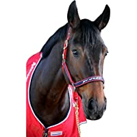 Whitaker - Cabezada acolchada con tejido polar para caballos
