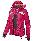 Skijacke Damen rot gelber Steifem mit Kapuze Göße 38