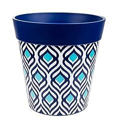 Idea Regalo - Hum Flowerpots Fioriera con pavone blu, vaso di fiori esterno e interno.