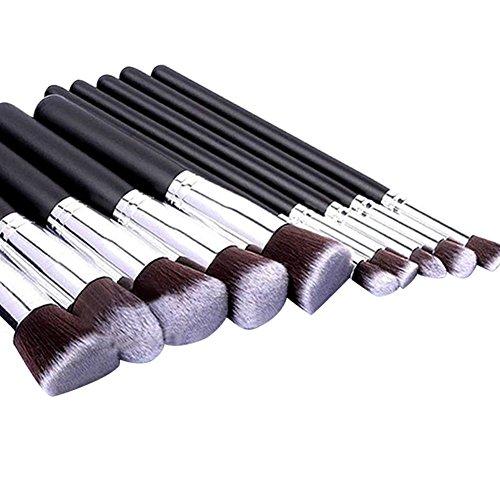 Lesley Pierce Kit De Pinceau Maquillage Professionnel 10PCS Noir Eyebrow Shadow Blush Fond
