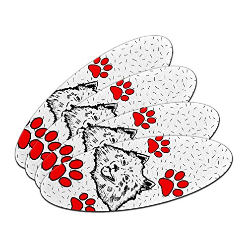 American Eskimo Hund Of Distinction Oval Nagelfeile Emery Board 4Stück