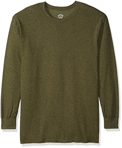 Duofold Men's Mid-Weight Crew Thermal Shirt Neck Thermal Shirt Sleepwear, Olive -