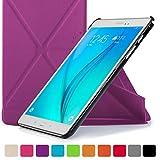 Forefront Cases Smart Étui Housse Compatible avec Samsung Galaxy Tab A 9.7 Smart Case Cover Origami - Ultra Mince Léger avec Protection complète de l'appareil Smart Veille Réveil Automatique (Violet)...