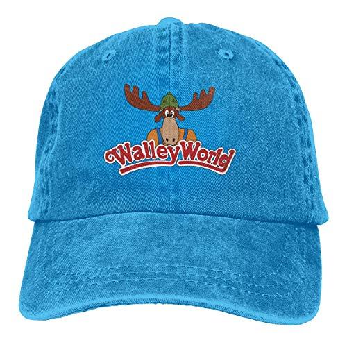 Trucker Cap Wally World Strapazierfähige Baseballkappe, Verstellbarer Papa Hut schwarz
